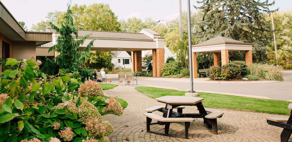 An exterior shot of Edison Christian Assisted Living Center.